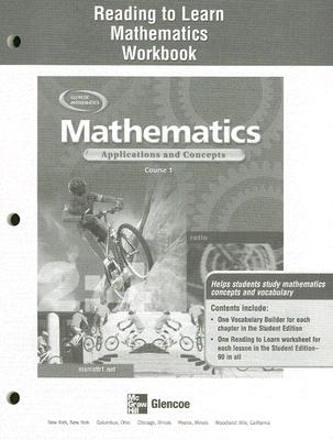 McGraw-Hill/Glencoe Mathematics Reading to Learn Mathematics Workbook: Applications and Concepts, Course 1 by McGraw-Hill [Paperback] at Sears.com